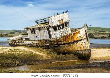 Old Fishing Boat in Northern California