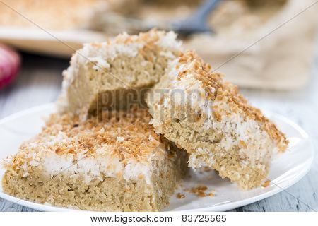 Fresh Baked Coconut Cake