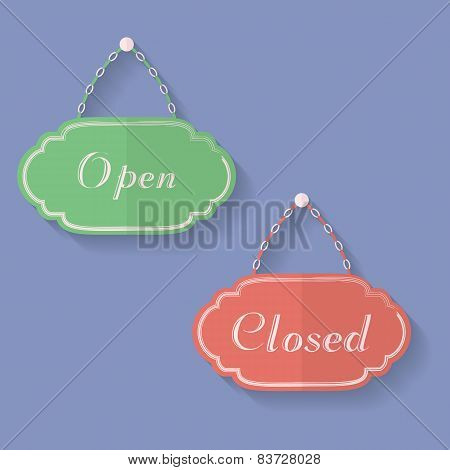 Signs Of Open And Closed. Open, Closed Icons
