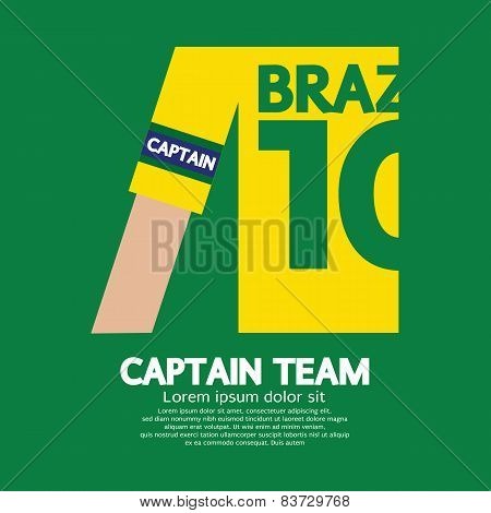 Brazil Captain Soccer/football Team.