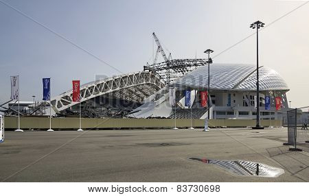 Fisht Olympic Stadium is being reconstructed.