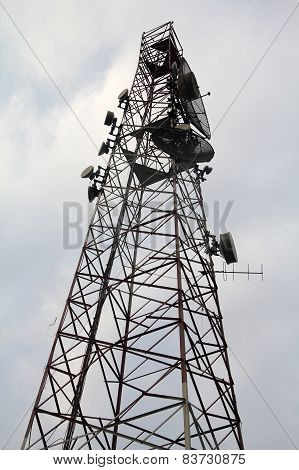 Telecommunication Tower with Boosters