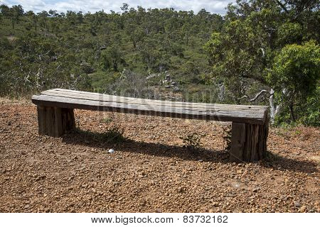 A wooden bench in John Forrest National Park