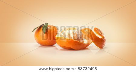 Oranges fruit and orange wedge