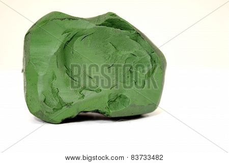 Dark green  isolated on a white background.