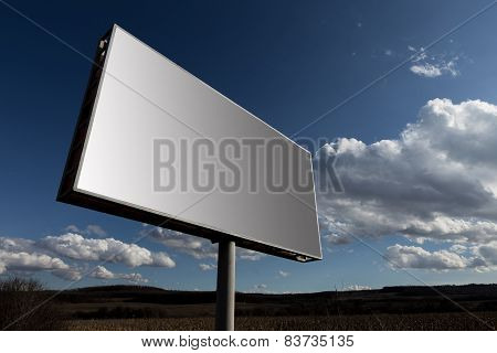 Big Billboard And Sky Background