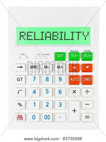 Calculator With Reliability