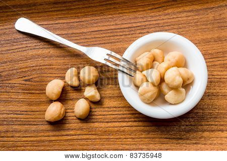 Macadamia In The White Dish