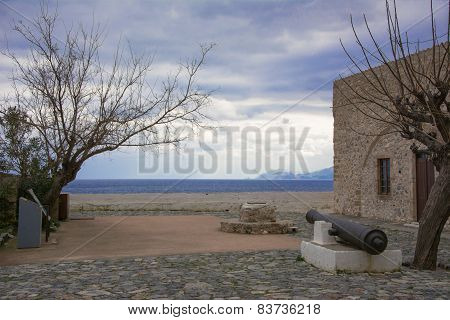 Canon At Monemvasia, Greece