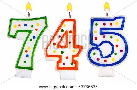 Candles Number Seven Hundred Forty-five