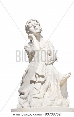 Statue Of Young Female Isolated Over White