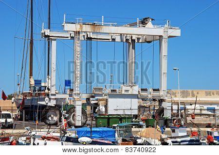 Boat lifting crane, Carboneras.