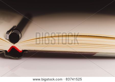 Book Close Up Pencil Partial Light