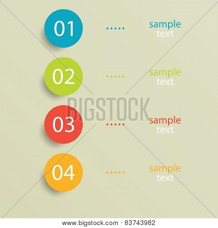 Numbered Circles Infographic Design With Your Text