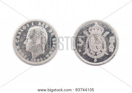 Five pesetas Spain 1982