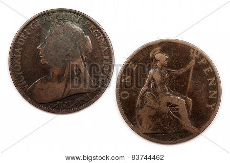 One British Penny 1896