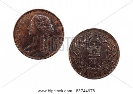 One Cent coin from Newfoundland 1890