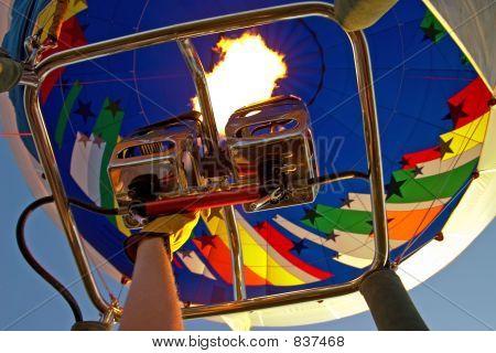 Heating the balloon