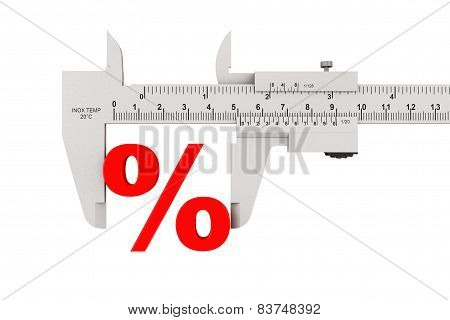 Metal Vernier Caliper With Percent Sign