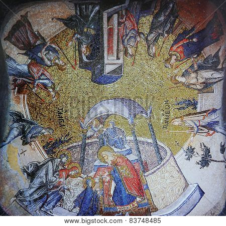 Byzantine mosaic in Church of the Holy Saviour in Chora