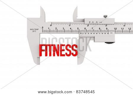 Metal Vernier Caliper With Fitness Sign