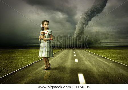 Mädchen-tornado