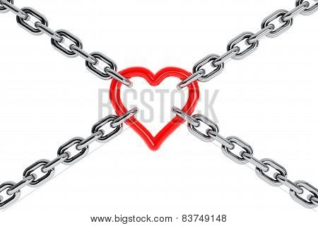 Chain With Red Heart Element