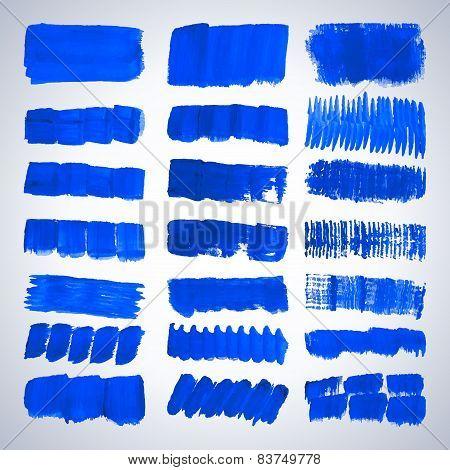 Grunge Blue Brush Strokes