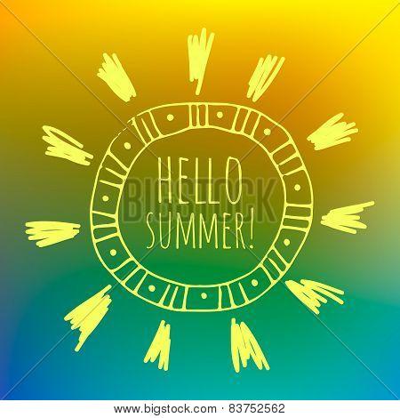 Unfocused Summer Poster.