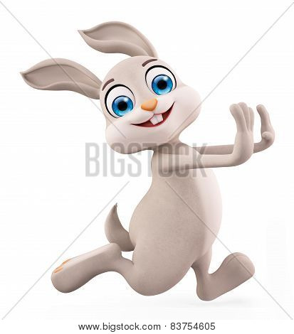 Easter Bunny With Running Pose