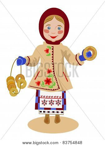 Ukrainian Girl With Bagels