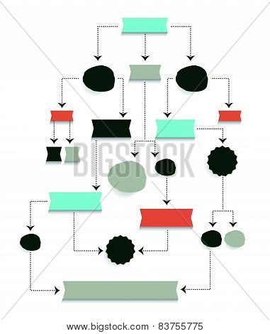 Flow chart diagram. Hierarchy scheme.