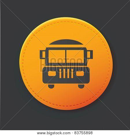 School bus button,clean vector
