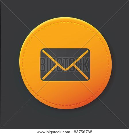 E-mail button,clean vector