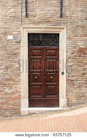 Squared Medieval Front Door