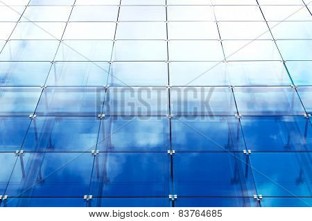 Modern Building With Blue Glass Paneling