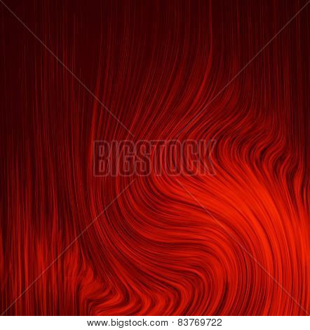 red background abstract cloth or liquid wave illustration