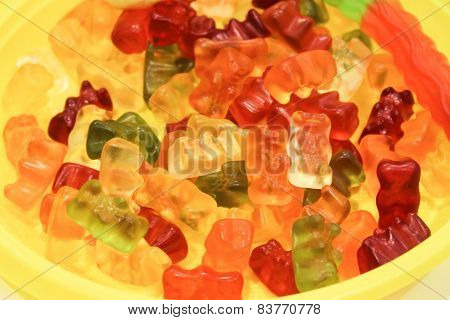 Colourful sweet candies