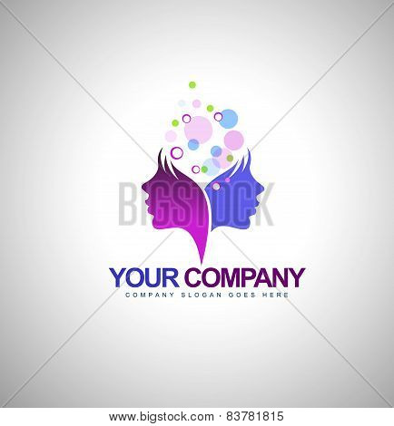 Beauty Female Face Logo