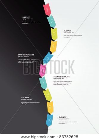 Timeline. Step by step template. Infographic.