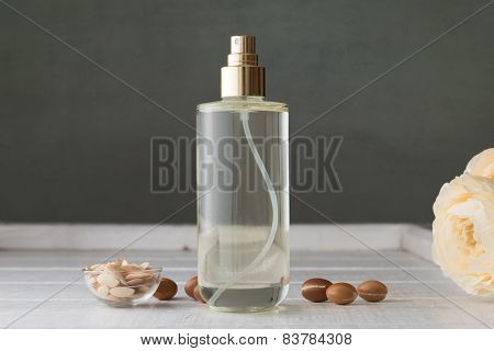 Argan oil with seeds and fruits