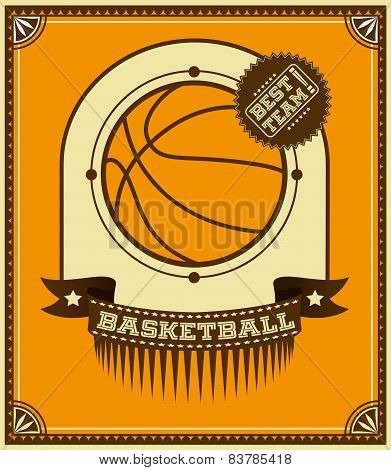 Basketball Retro Poster.