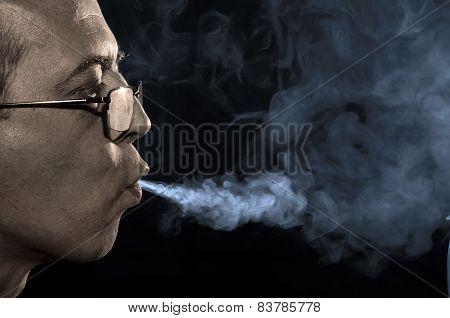 Smoking Person.