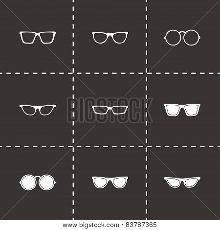 Vector glasses icon set