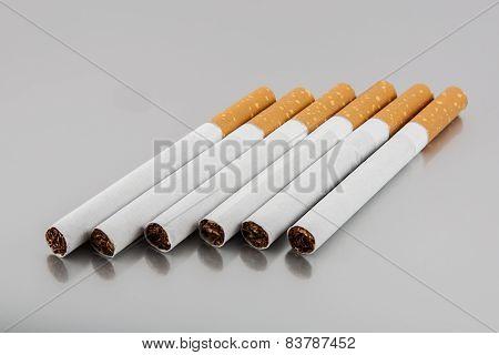 cigarettes on gray