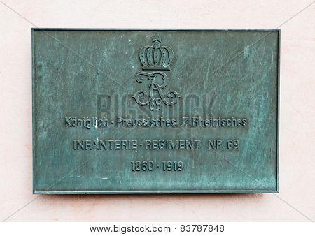 Koniglich Preussische Rheinisches, Infanterie Regiment 69 - Kurfurstliches Palais