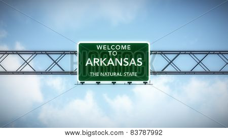 Arkansas USA State Welcome to Highway Road Sign