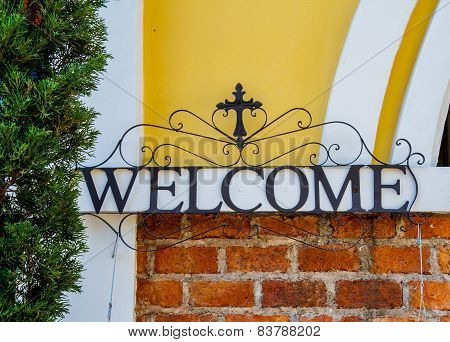 Welcome Sign Made Of Steel