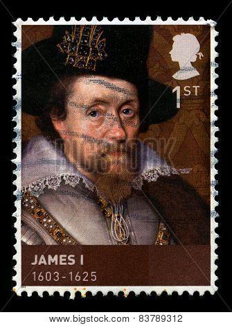 King James I Used Postage Stamp
