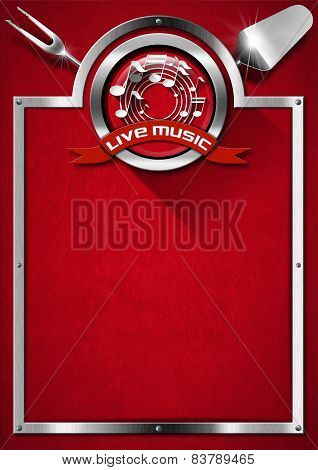 Live Music And Food - Menu Design